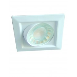 Foco LED integrado 8w 3000K redondo
