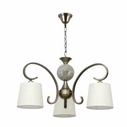 lampara concordia 3 luces cuero pantalla beis