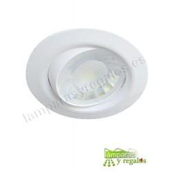 Foco LED integrado 8w 3000K redondo