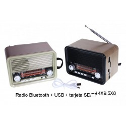 RADIO ORLEANS Bluetooth + USB + tarjeta SD/TF