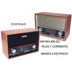 RADIO ALABAMA con mando a distancia USB - SD